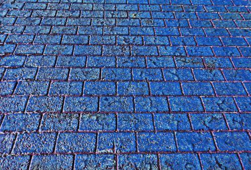 Brick Walkway Background - Blue