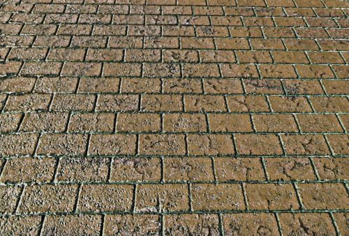 Brick Walkway Background - Brown