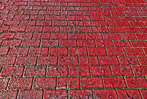 Brick Walkway Background - Red