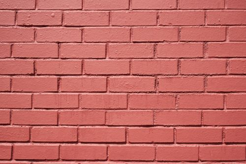 brick wall red pink