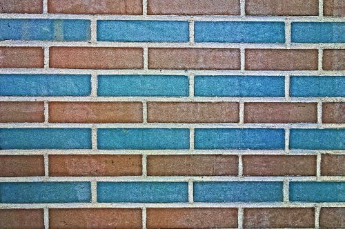 brick wall wall blue brick wall