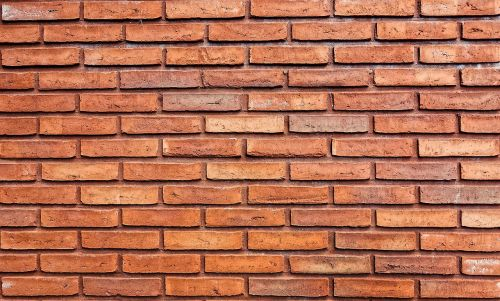 brick wall orange brick wall brick