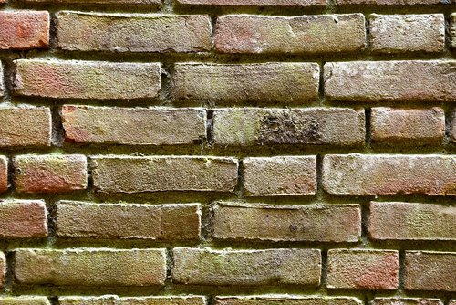 brick wall  yellow brick  seam