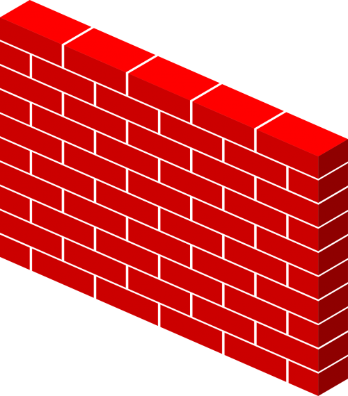 bricks wall red