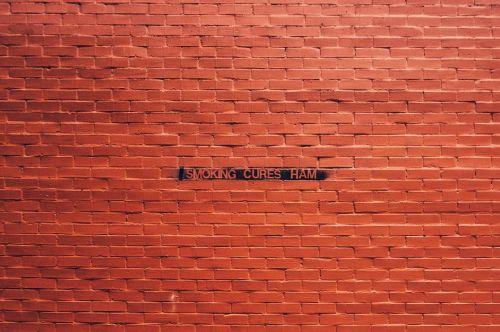 bricks orange wall