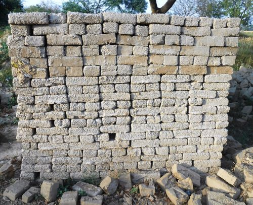 bricks stacked construction