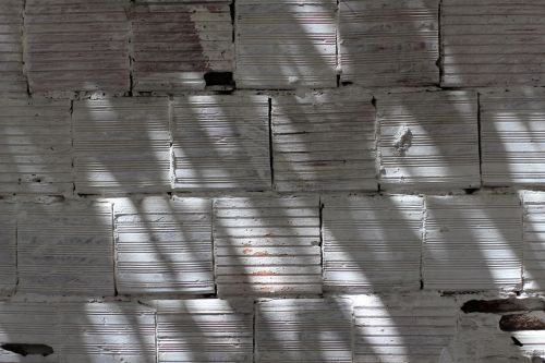 bricks white wall