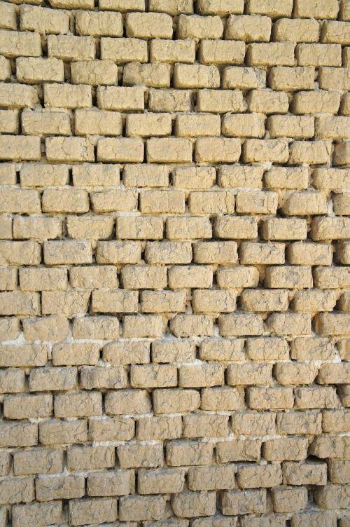 bricks clay bricks wall