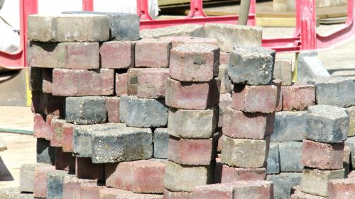 Bricks On A Construction Site