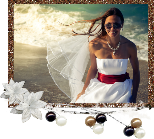 bride beach wedding dress