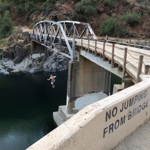 bridge jumping rule breaking