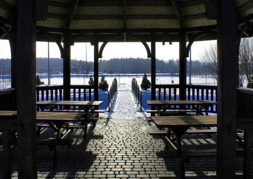 bridge winter bower holiday