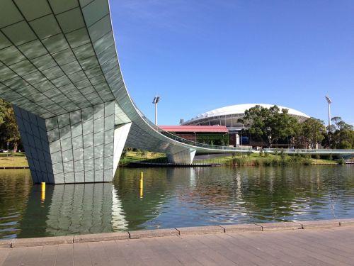 bridge architecture adelaide oval footbridge