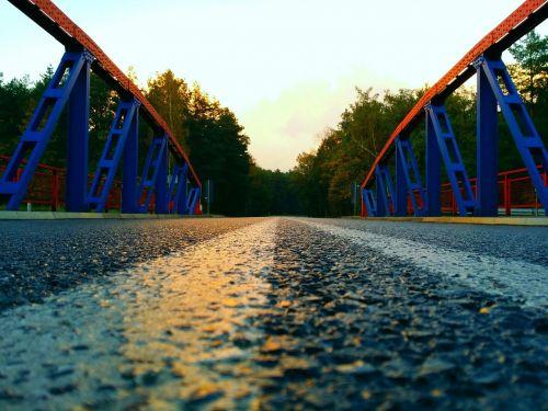 bridge west evening clouds