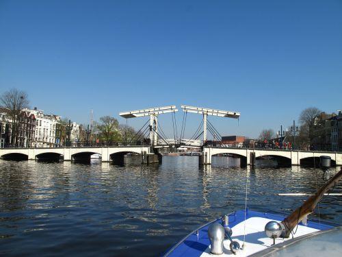 amsterdam narrow bridge canal