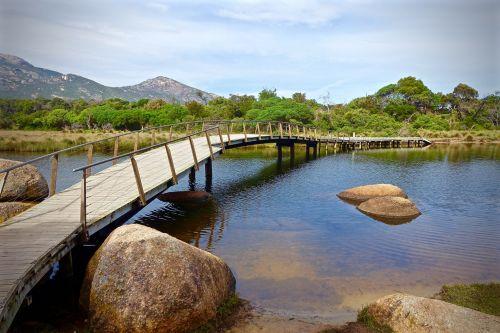 bridge tidal river wilsons promontory