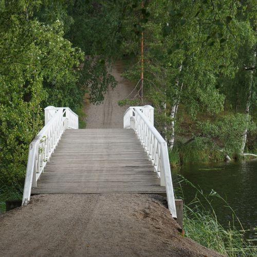 bridge the wooden bridge skywalk
