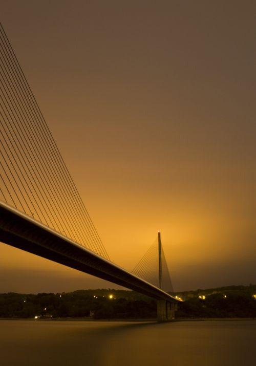 bridge night river