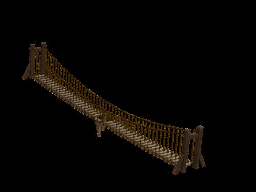 bridge wooden bridge suspension bridge