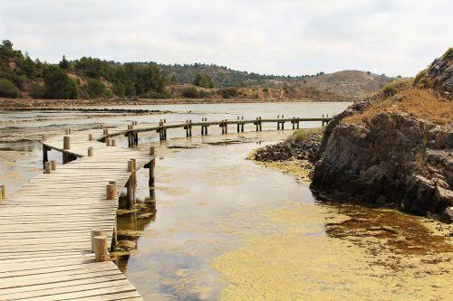 bridge salins wooden bridge