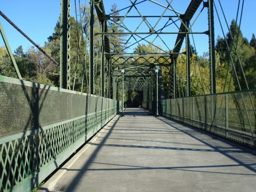 bridge ironwork walkway