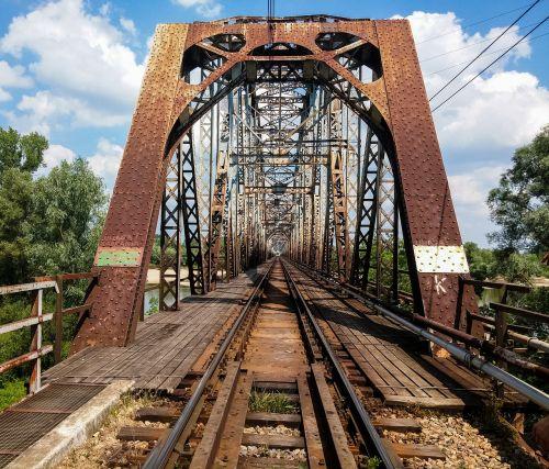 bridge railway bridge the viaduct