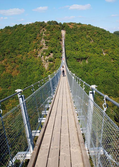 bridge suspension bridge cross