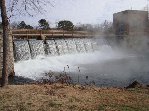 bridge water waterfall