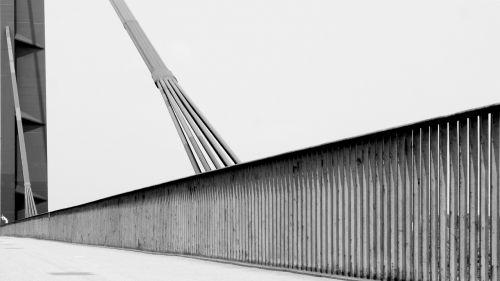 bridge black and white düsseldorf