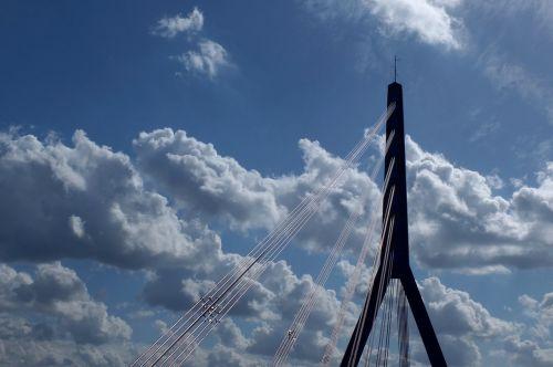 bridge rheinbrücke suspension bridge