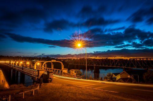 bridge starburst river