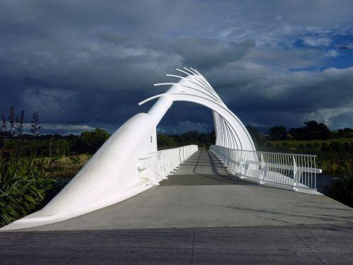 bridge clouds moody