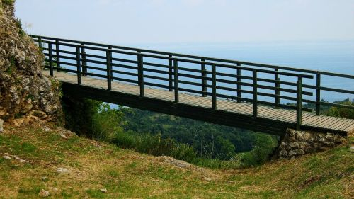 bridge hiking landscape