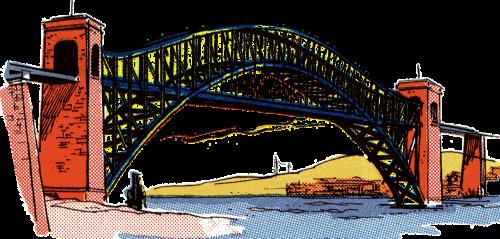 bridge vintage clip art