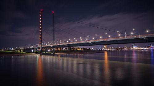 bridge rhine knee bridge düsseldorf