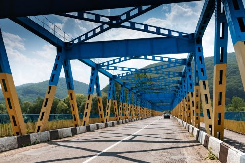 bridge ukraine carpathian mountains