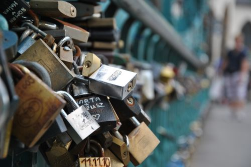 bridge padlocks bridge lovers