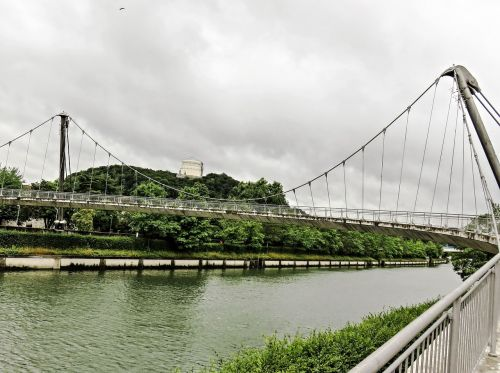 bridge suspension bridge pedestrian bridge