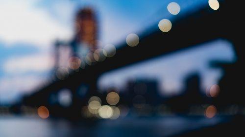 bridge infrastructure blur