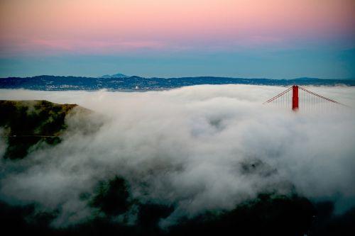 bridge clouds smoke
