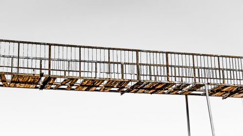bridge rusty destroyed