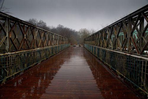 bridge river rain