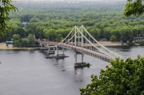 bridge dnieper pedestrian