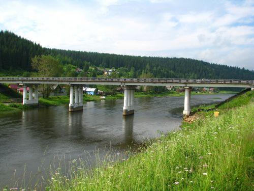 bridge crossing river