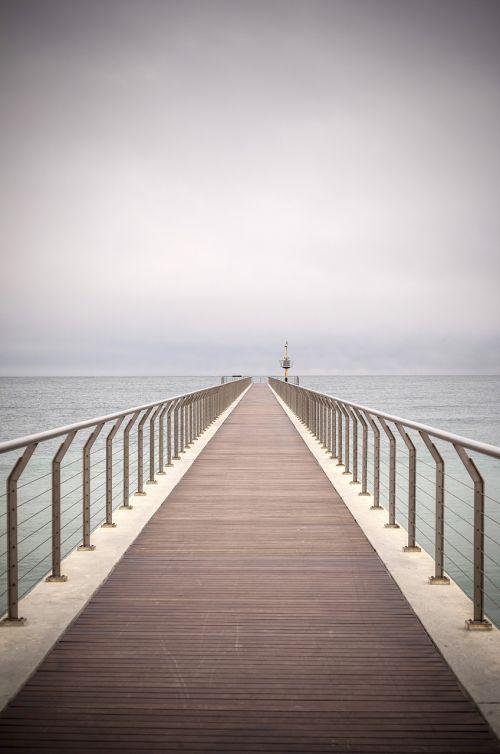 bridge beach sea