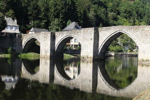 bridge reflections water