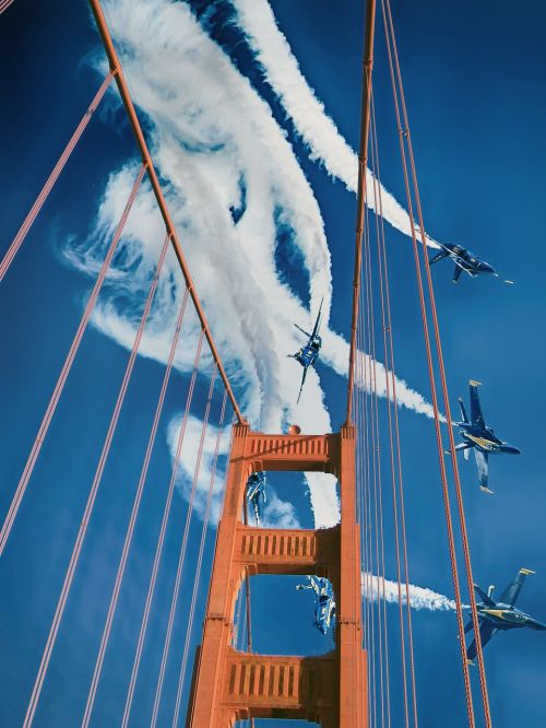 bridge blue angels sky