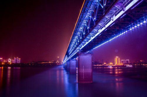 bridge twilight evening
