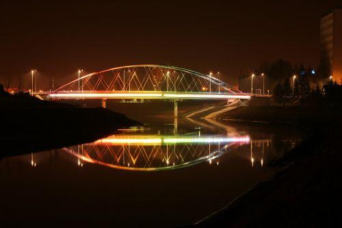bridge light lit