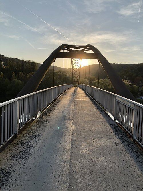 bridge  sunset  arch
